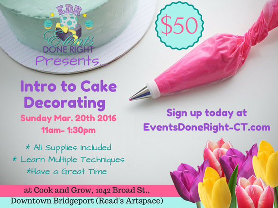 Cake Decorating Classes Ct : Cooking Classes & Events - Cook &Grow
